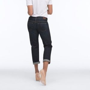 Ag tomboy crop relaxed straight blue crush jeans